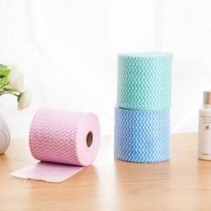 断点式一次性美容洁面巾卸妆巾 家用擦手纸柔软卷筒纸洗碗巾 20米 绿色