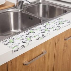 厨房水槽洗菜盆防水贴 浴室洗漱台防水滴落吸湿贴 静电贴 藏青小花