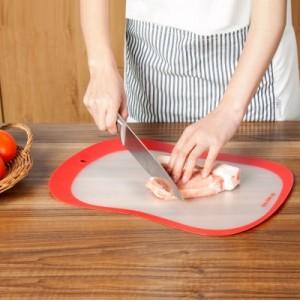 多功能树脂磨砂分类砧板 防滑水果切板 透明家用切菜板(四个装)