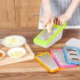 厨房多用不锈钢切菜器5件套 磨蓉黄瓜土豆切丝切片器刨丝器 粉色