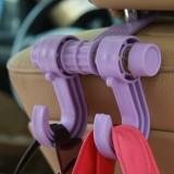 优质汽车挂钩 座椅背 车载挂(紫色)