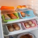 抽屉式鸡蛋收纳盒 冰箱橱柜鸡蛋食物整理盒 保鲜盒 粉色