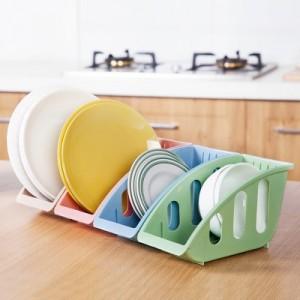 厨房用品碗碟收纳架 盘子碟子锅盖餐具整理架置物架  粉色