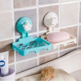 创意香皂盒多色 强力吸盘肥皂架 厨房杂物架 NO.7702 绿色