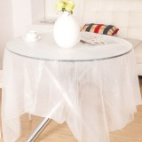 一次性纺丝台布 餐桌防水防油污PE桌布 10片装 白色