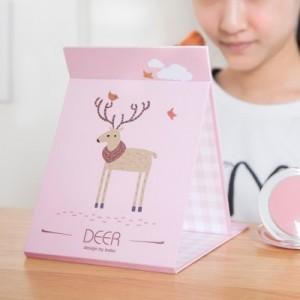韩版创意随身镜 折叠便携小镜 台式梳妆镜 156BX 红熊猫