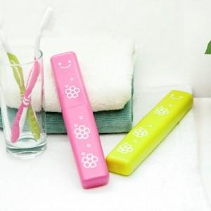 创意糖果色笑脸旅行外出便携牙刷盒 可爱牙具收纳盒 TH-7707 绿色