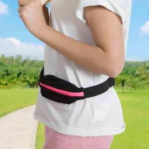 户外跑步健身防水运动腰包 弹性迷你手机包零钱钥匙包 青色