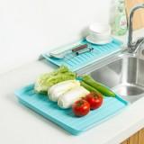厨房客厅多用长方形沥水盘套装 蔬菜水果盘两件套 红色