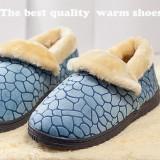 冬季保暖居家棉鞋 全包跟-蓝色 29码