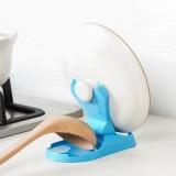 多用途折叠式锅盖架 厨房用品砧板架菜板架 带接水盘