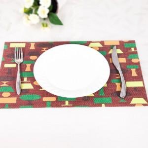 欧式桌面西餐垫 PVC印花餐垫 防水餐桌垫子隔热垫 台灯款