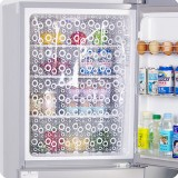 粘贴可裁剪冰箱省电贴纸 2片装--白色
