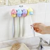时尚卡通蘑菇家族四人牙刷架 牙刷防尘收纳盒(四朵蘑菇)
