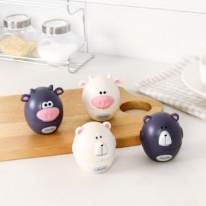 可爱动物造型厨房定时器 机械闹钟无需电池提醒器 计时器 RB261 紫色熊