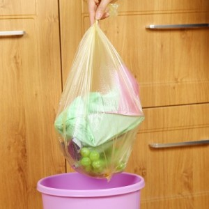 加厚加大型厨房一次性垃圾袋点断式中号垃圾袋 30只装 黑色