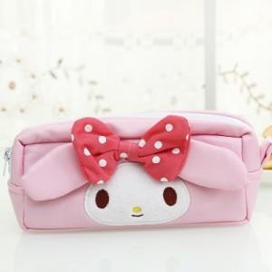 Journey Cat 韩国文具创意可爱卡通皮革笔袋 收纳袋 粉色女孩