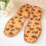 秋冬季舒适保暖毛绒豹纹鞋垫 44码