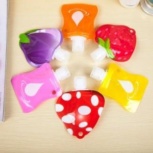 旅行便携式乳液面霜分装瓶 水果造型软包装洗手液洗发水沐浴露瓶 草莓