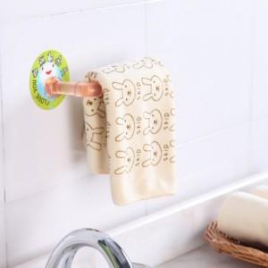 多功能强力无痕免钉挂钩挂架 卫生间浴室厨房纸巾架毛巾架抹布架 蓝色