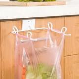 创意门背式铁艺垃圾袋架  厨房橱柜门背后垃圾袋挂钩 抹布挂勾
