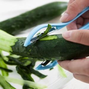 不锈钢双面刀头削皮器 厨房多功能蔬菜水果快速刨皮器 粉色