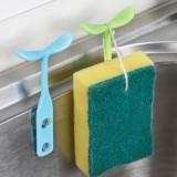 多功能厨房水槽吸汤勺架 便利勺子筷子架豆芽棒 绿色