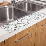 厨房水槽洗菜盆防水贴 浴室洗漱台防水滴落吸湿贴 静电贴 黑叶绿草