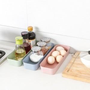 抽屉分隔收纳整理盒 厨房餐具收纳盒长方形塑料收纳格(小号) 卡其色
