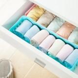 卡扣式桌面收纳篮 多用抽屉整理可叠加收纳盒(中号) 粉色
