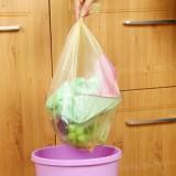 加厚加大型厨房一次性垃圾袋点断式中号垃圾袋 30只装 蓝色
