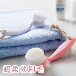 手工洁面洗脸刷 去黑头卸妆清洁毛刷 白色