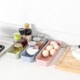 抽屉分隔收纳整理盒 厨房餐具收纳盒长方形塑料收纳格(小号) 蓝色