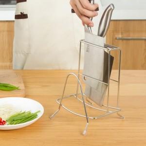 厨房多功能刀架砧板架 菜板刀具置物架 不锈钢刀座刀具架