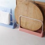 厨房砧板沥水置物架 抹布百洁布收纳架 灰蓝