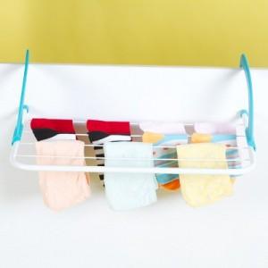 可折叠多功能晾晒衣架 阳台晾晒架 鞋架 室外窗台晾衣挂 浴室毛巾架(小号)