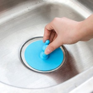 卫生间厨房下水管道除臭盖 硅胶小人造型防臭地漏芯 蓝色