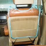 汽车座椅透明防踢垫 防脚踢防护垫 防脏垫 蓝色
