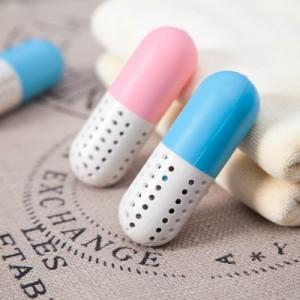 可爱药丸干燥剂 除臭剂 驱蚊除湿胶囊 粉色