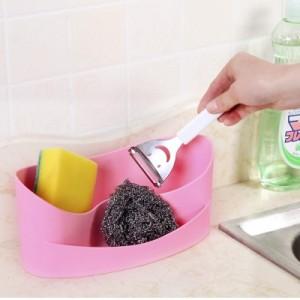 时尚塑料桌面办公具杂物整理盒 多用遥控器化妆品厨房收纳盒 粉色