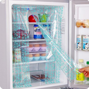 粘贴可裁剪冰箱省电贴纸 2片装--绿色
