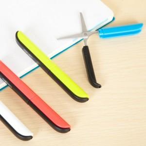 创意彩色剪刀钢笔式炫彩便携安全手工剪刀带保护套 0600 红色
