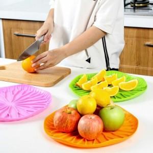 优质pp沥水盘 时尚创新家用水果盘 大容量水果盘 绿色