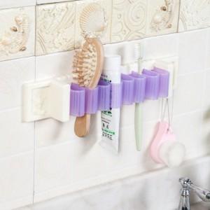 浴室收纳整理架卫生间置物架厨房架子杂物收纳架储物架多用途挂钩 玫红色