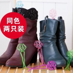 日式小巧短款靴撑 可爱防变形撑鞋器(2个装)FTH024 紫色