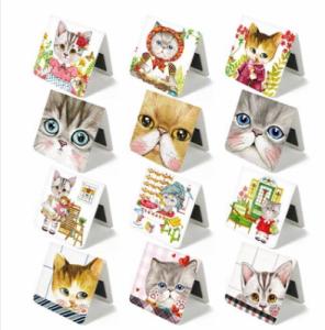 韩国文具 创意可爱猫咪磁力书签 卡通迷你书夹(3个装)