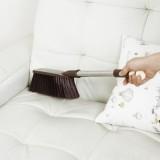 不锈钢长柄除尘刷 床刷除尘刷 大号长柄刷 扫帚除尘刷 车掸子 咖啡色