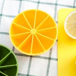 自制创意柠檬冰格 环保无毒10格冰块模具 制冰盒 橙色