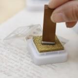 韩国文具印章伴侣 金银色印油套装 印泥(金银2色)