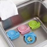 可爱蜗牛造型硅胶地漏盖 厨房水槽下水道过滤网地漏 蓝色